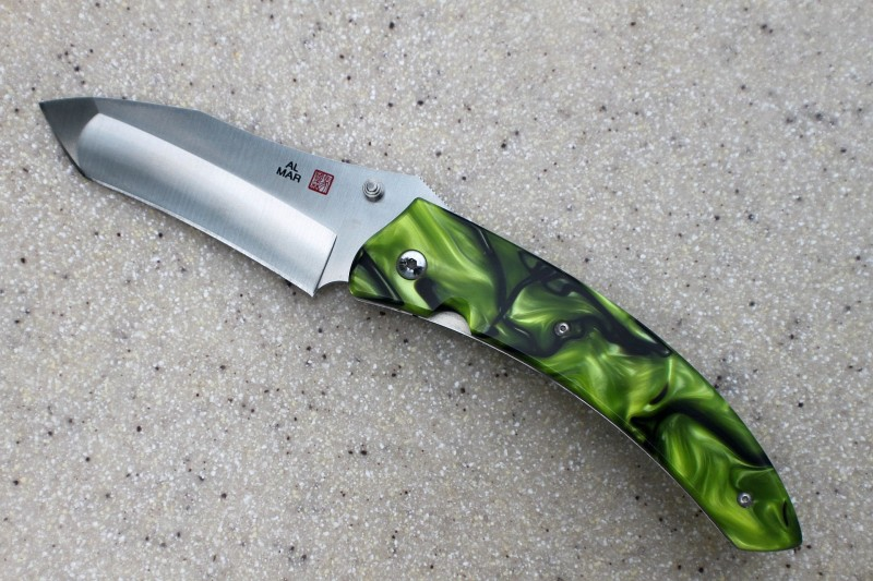 Customized Al Mar Payara with Green Inferno Kirinite handle