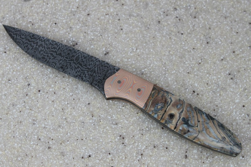 """Mokume Gane and Mammoth tooth """"Toad"""""""